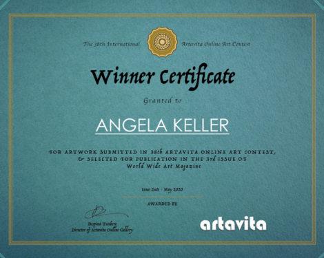 Artavita_Contest38_Winner Certificate - Angela Keller